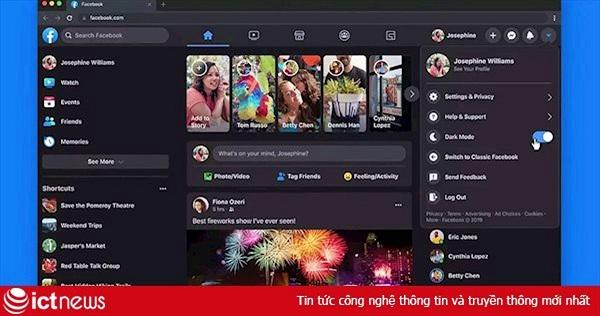 Chế độ dark mode trên Facebook đến với mọi người dùng toàn cầu