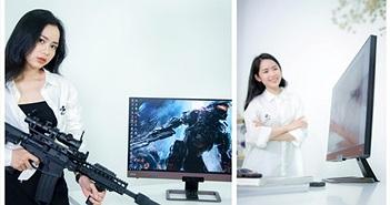 MC Thu Huyền cá tính bên màn hình gaming BenQ EX2780Q 144Hz