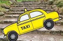 Ngỡ ngàng với taxi… trèo xuống thang đi đường tắt!