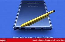 Samsung Galaxy Note 9 chính thức ra mắt: pin khủng, bút S Pen mới toanh
