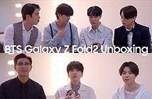 BTS thích thú mở hộp siêu phẩm Galaxy Z Fold2