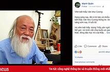 Facebook trầm buồn trước tin thầy Văn Như Cương qua đời