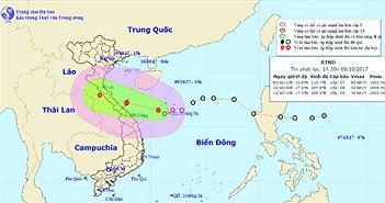 Áp thấp khả năng thành bão, đổ bộ vào Hà Tĩnh - Quảng Bình