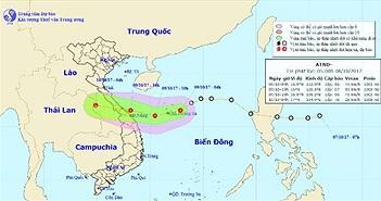 Chiều tối nay áp thấp nhiệt đới đổ bộ Quảng Bình - Đà Nẵng