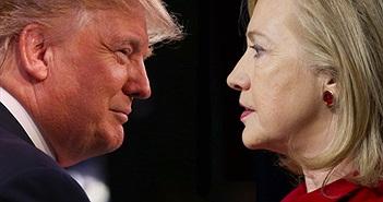 Cuộc đua giữa D.Trump và H.Clinton nóng nhất Facebook 2016