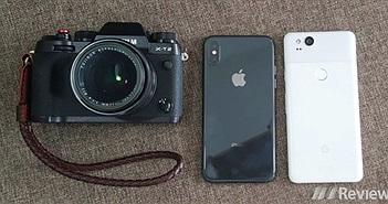 So nhanh ảnh xóa phông từ iPhone X, Google Pixel 2 và máy ảnh Fujifilm X-T2