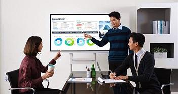 [CES 2018]: Samsung Flip, bảng kỹ thuật số 55 inch cải thiện sự tương tác với cộng đồng