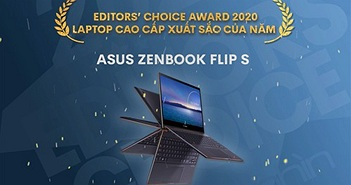 Editors' Choice Awards 2020: Laptop cao cấp của năm - Asus ZenBook Flip S