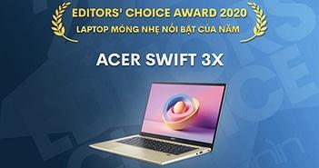 Editors' Choice Awards 2020: Laptop mỏng nhẹ nổi bật của năm - Acer Swift 3X