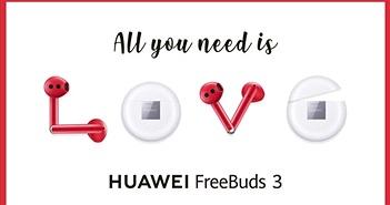 Huawei ra mắt Freebuds 3 phiên bản đỏ cho ngày Lễ Tình Nhân