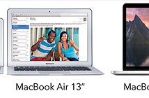 Apple nâng cấp cấu hình MacBook Air và MacBook Pro 13 Retina