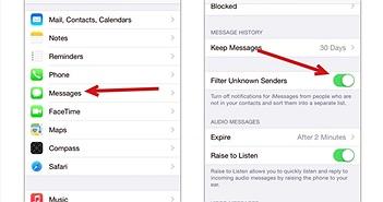 Cách dùng bộ lọc tin nhắn rác mới trong iOS 8.3