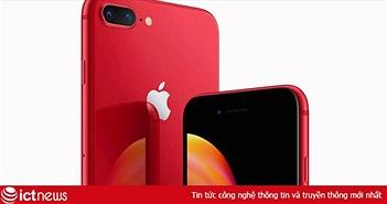 Apple chính thức ra mắt iPhone 8 và 8 Plus đỏ (PRODUCT)RED: Mặt trước màu đen, bán ra 13/4, giá từ 699 USD