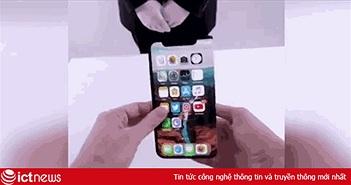 iPhone màn hình gập vừa xuất hiện, video khiến iFan phát sốt