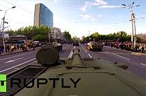 Camera GoPro được gắn trên xe tăng duyệt binh ở Quảng trường Đỏ