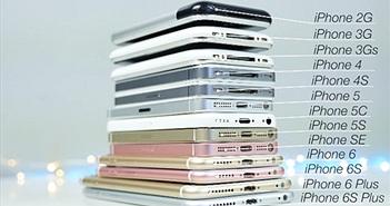 """So sánh tốc độ """"cả gia tộc"""" iPhone từ 2007-2016"""