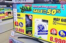 Siêu thị điện máy giảm giá TV kịch sàn để thu hút khách mua
