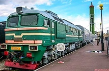Rợn người đứng trước tàu hỏa mang tên lửa hạt nhân Nga