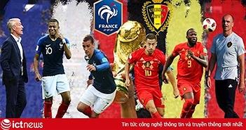 Xem bóng đá World Cup 2018 trực tiếp trận Pháp vs Bỉ trên VTV3, VTV3 HD