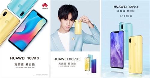 Huawei Nova 3 ra mắt ngày 18/7: chip Kirin 710, 6GB RAM và camera kép