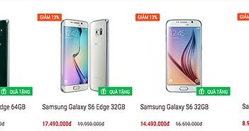 Galaxy S6, S6 Edge và A7 chính hãng giảm giá từ 1 triệu đến 2,5 triệu