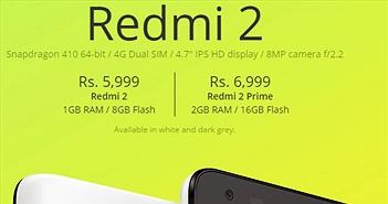 Xiaomi chính thức ra mắt smartphone giá rẻ Redmi 2 Prime