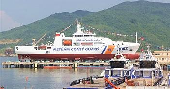 Chùm ảnh: Lễ hạ thủy tàu Cảnh sát biển 8002
