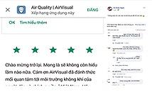 AirVisual đã trở lại trên kho ứng dụng tại Việt Nam