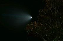 Vệt sáng hình nón bí ẩn trên bầu trời nước Mỹ