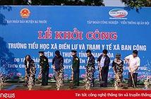 Viettel khởi công xây trường học và trạm y tế hỗ trợ huyện nghèo Bá Thước