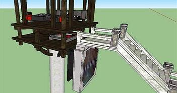 'Hướng về cội nguồn' với mô hình PC mô phỏng Chùa Một Cột