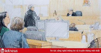 Ngột ngạt phiên xét xử đằng sau 2 lớp kính chống đạn của sếp Huawei Mạnh Vãn Chu