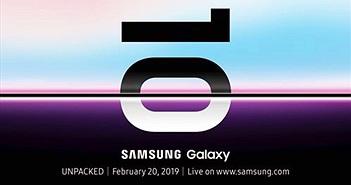 Samsung Galaxy S10 sẽ trình diện vào ngày 20/2/2019