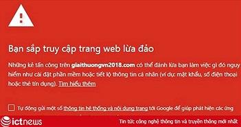 Đề nghị xử lý trang web lừa đảo giaithuongvn2018.com