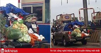 """Hình ảnh chuyến xe """"chở cả quê hương"""" quay lại Thủ đô sau kỳ nghỉ Tết Nguyên đán khiến nhiều người bật cười"""