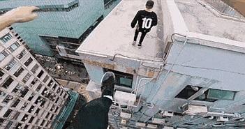Thót tim với cảnh nhảy parkour qua tòa nhà trọc trời từ góc nhìn của người nhảy