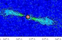 Bất ngờ khí phân tử phát ra từ thiên hà NGC 3557