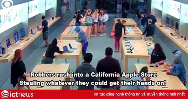Choáng váng xem clip cướp Apple Store chỉ trong vài giây
