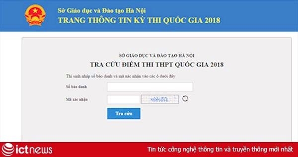 Tra cứu điểm thi THPT quốc gia tại Hà Nội nhanh nhất