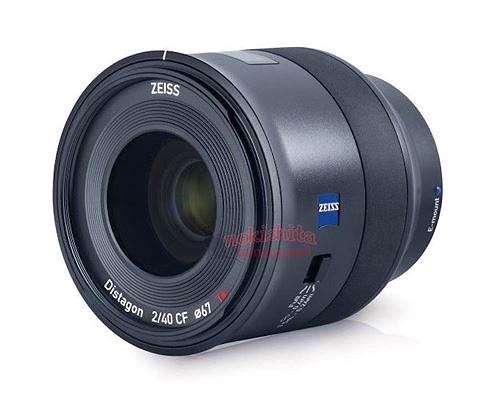 Sắp có lens Zeiss Batis 40mm f/2 cho máy ảnh Sony full-frame E-mount