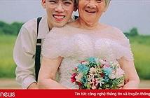 Bộ ảnh 'Nội tôi mặc váy cưới' gây thích thú với 'cô dâu' 88 tuổi
