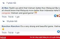 Dân mạng Malaysia khâm phục, gọi Việt Nam là vua bóng đá Đông Nam Á