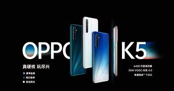OPPO K5 ra mắt: Snapdragon 730G, camera 64MP, giá từ 266 USD