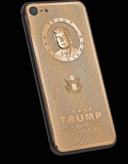 iPhone 7 vỏ vàng khắc chân dung Donald Trump giá 3.000 USD
