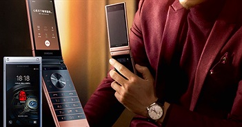 Điện thoại vỏ sò hạng sang Samsung W2019 chính thức ra mắt