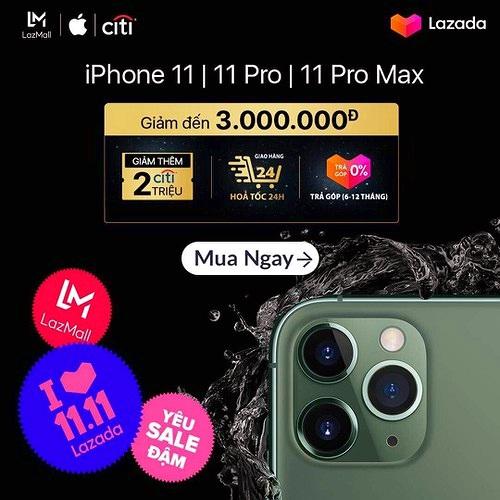 Ngày độc thân 11/11: Mua iPhone 11 chính hãng giảm từ 5-6 triệu đồng