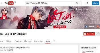"""Sơn Tùng M-TP là ca sĩ Việt đầu tiên giành """"nút vàng"""" của YouTube"""