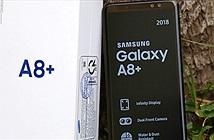 Đập hộp Galaxy A8+ bản thương mại mới ra mắt