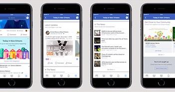 Facebook thử nghiệm mục tin tức nơi bạn sinh sống