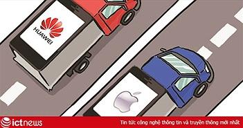 """Apple """"hot"""" trở lại tại Trung Quốc nhưng chưa thể soán ngôi Huawei"""